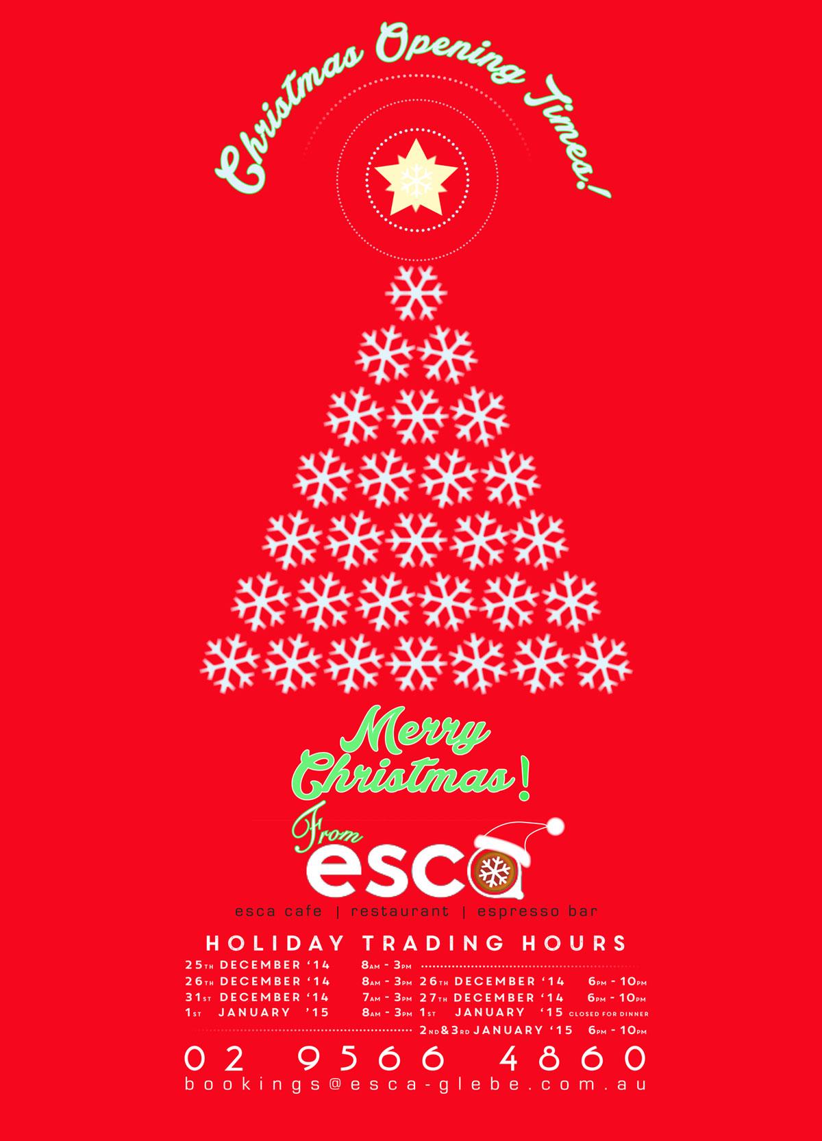 Christmas Restaurant Poster.Esca Christmas Poster Rob Everett Design